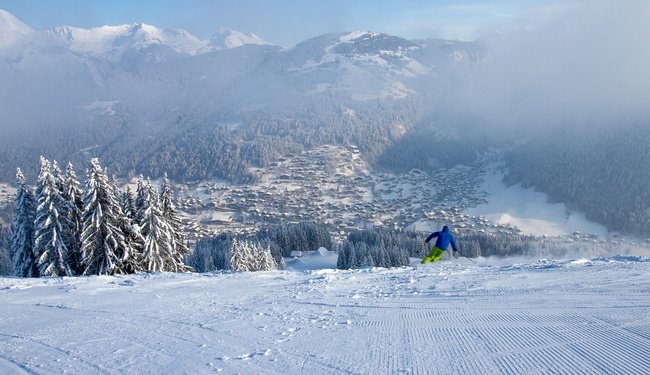 Skiing Pleney Morzine copyright Matthieu Vitre