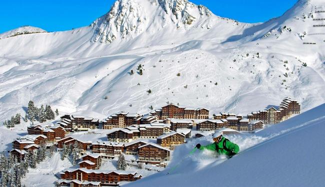 freeride skiing la plagne credit P Royer