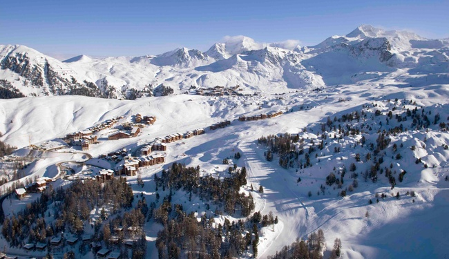 La Plagne aerial view credit Elina Sirparanta