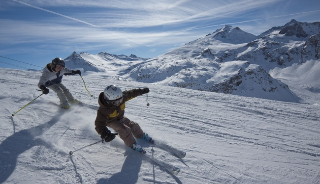 Beginner Skiing in Tignes