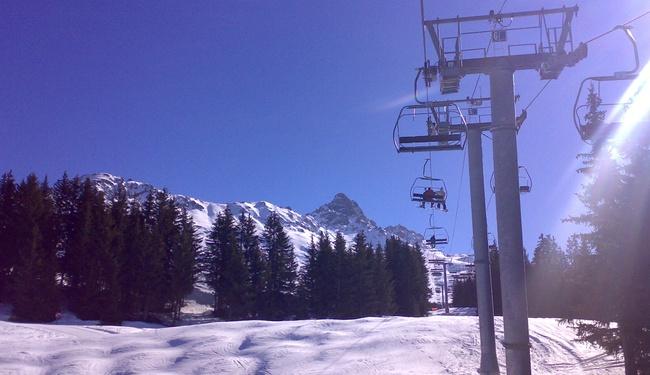 The Beginner Slopes of Meribel Ski Resort