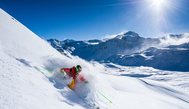 Skiing in Tignes - Andy Parant
